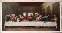 "Art Repro Leonardo da VInci-The Last Supper oil painting on canvas 24""x48"""