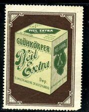 Germany Poster Stamp Gluhkorper Gas Light Mantle Pfeil