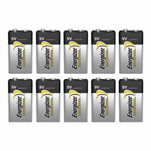 10 x Energizer 9V batteries Industrial 6LR61 Block PP3 6LP3146 MN1604