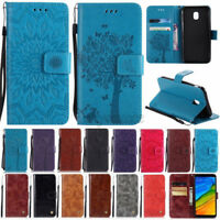 For Huawei Y6 Y7 Y9 2018 Magnetic Leather Wallet Case Card Slot Flip Stand Cover