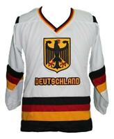 Any Name Number Size Team Germany Retro Custom Hockey Jersey White