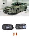 ~NEW~JDM GTR Smoked Bumper Turn Signal Indicator Lights for Nissan Skyline R34