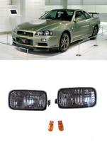 JDM GTR Smoked Bumper Turn Signal Indicator Lights for Nissan Skyline R34 FGT1