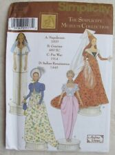 Simplicity Pattern 7089 Museum Collection Fashion Doll Clothes Dress