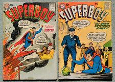SUPERBOY #56 & #58, DC SILVER AGE COMICS LOT, Vintage 1957, 10-cent comics