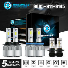 9005+H11 LED Headlight Combo 9145 DRL Fog Lights Bulbs For Dodge Ram 1500 09-19