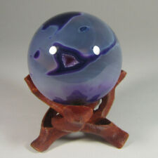 42mm PURPLE AGATE Crystal Sphere Ball w/ Stand - Brazil