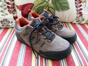 Ozark Trail Mens Hiking Sneaker Shoes Tan Black Leather Mesh Men's EUR-41 US-8