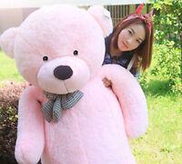 63''/160cm Huge Giant Big Plush Pink Teddy Bear Soft Plush Doll Toy 100% Cotton