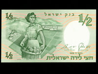 Israel:P-29,½ Pound 1958 * Woman Soldier * UNC *