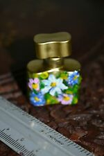 VINTAGE HAND PAINTED PERFUME BOTTLE.  1970s -80s.