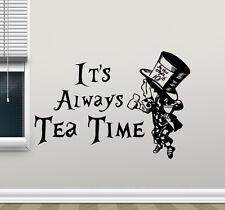 Alice In Wonderland Wall Decal Tea Time Kitchen Vinyl Sticker Art Poster 129crt