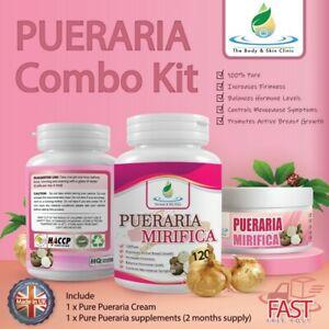 BREAST ENLARGEMENT 100% PURE PUERARIA MIRIFICA CREAM & Pill COMBO MEGA KIT