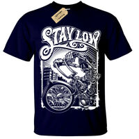 STAY LOW T-Shirt Mens S-5XL Graffiti Biker Rider Lowrider Skeleton Skater
