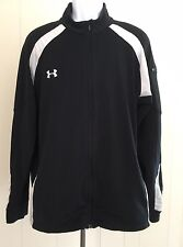 Mens Under Armour Tennis Track Running Sports Jacket Black/white XL Flaws