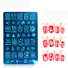 Christmas Nail Art Stamping Plates Template Stencil Stamper Manicure Accessories
