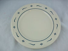 "Longaberger Woven Trad Pottery Set 4 Classic Blue 10"" Dinner Plates-Free Ship"