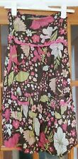 Ladies Strapless Beach Dress Cover Multi Floral Size 8