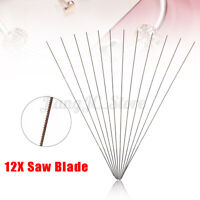 0# 12Pcs Piercing Saw Blades For Jewelry Making Metal Cutting Jeweler Tool  ☆ab