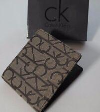 Calvin Klein 100% autentico in tessuto/pelle Portafoglio Marrone