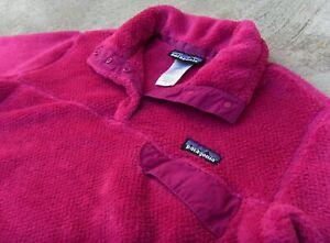 PATAGONIA Re-Tool Snap-T pullover fleece Jacket women's Sz Large magenta