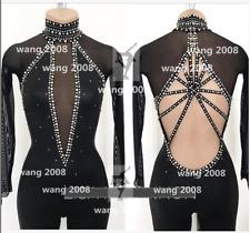 Figure Skating Competition Dress Ice Skating Dress Girl black pants back open