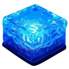 Solar Powered LED Rock Light Path Garden Ice Cube Brick Lamp Decor Waterproof
