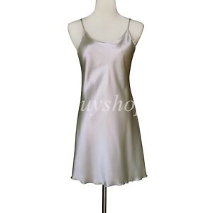 Women's Satin Chemises Slip Lingerie Sleepwear Lady Sexy Nightdress Liner Dress