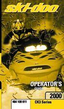 Ski-Doo owners manual book 2000 Formula III 800, Mach 1, Mach 1 R & Mach Z