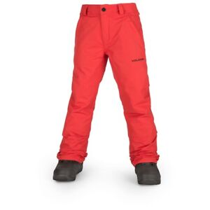 NWOT BOYS VOLCOM FREAKIN SNOW CHINO SNOWBOARD PANTS $100 M Fire Red snow