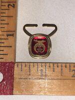 Vintage Mason Freemason Gold Tone Signed Enamel Tie Scarf Embellishment
