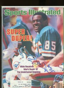 MARK DUPER MIAMI DOLPHINS SPORTS ILLUSTRATED signed autographed
