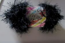 NEW Yarn Bee Tempting Girl Crystal Black Glitter Exoline 100g Yarn Turkey 828