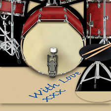 Drum Kit 3D greeting card birthday, anniversary, wedding, celebration