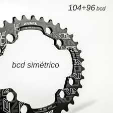 Plato Bicicleta 104+96 bcd Mtb Oval bcd 96+104 Montaña Shimano 32 / 34/ 36/ 38t