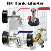 """IBC Tank Cap S60x6 Outlet Hose Fitting/Connector/Adapter with 1/2"""" 3/4"""" 1"""" Tap"""