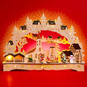 SIKORA LB70 Wooden 3D Christmas Arch LED Illumination - Christmas Village