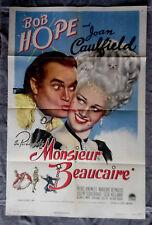 Monsieur Beaucaire 1sh movie poster BOB HOPE Marjorie Reynolds JOAN CAULFIELD 46