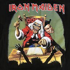 RARE NOS VTG 1990 Iron Maiden Deaf Sentence 10 Years Eddie Concert Tour TShirt M