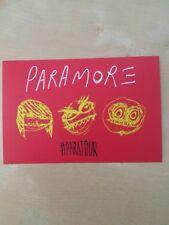 Paramore Self-Titled Tour (ParaTour) Promotional Postcards