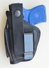 Hip Holster for RUGER LCP PISTOL Clip-on or Belt Loop Built In Extra Mag Pouch