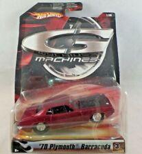 Hot Wheels G Machines 1:50 Scale Diecast '70 Plymouth Barracuda Dark Red NIP