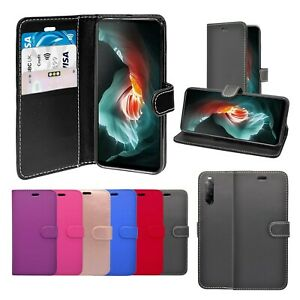 Case For Sony Xperia 10 II Wallet Flip PU Leather Stand Card Slot Pouch Cover