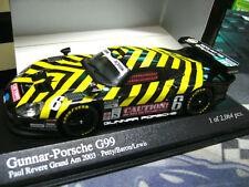 Porsche 911 gt1 Gunnar g99 2003 caution! petty Lewis #6 Minichamps pma 1:43