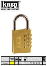 Kasp 40mm Latón Combinación números dígitos candado seguridad Equipaje/CANDADO