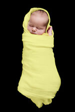 2 x MUSLIN  BABY  WRAPS    Extra Large,  Yellow , NEW