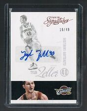 2012/13 panini signatures RED Version TYLER ZELLER #38 CAVS 16/49 MADE