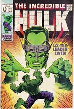 The Incredible Hulk #115 (May 1969, Marvel)  NICE COPY!