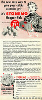 1951 Print Ad of Stone Mountain Grit Co Stonemo Hopper Pak Chick Feed