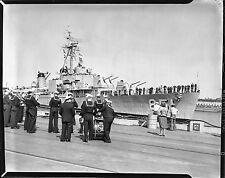 USS RUPERTUS DD-851 NAVY DESTROYER 1940S 4X5 LARGE FORMAT PHOTO NEGATIVE SHARP